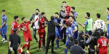 فریم به فریم با درگیری زشت بازیکنان پرسپولیس و استقلال