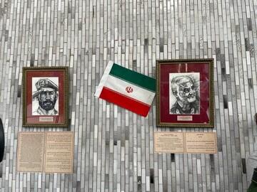 تمثال حاج قاسم سلیمانی وسرداران مقاومت دردانشگاه دوستی ملل روسیه