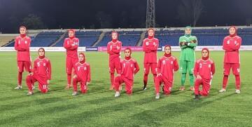 تورنمنت فوتبال جوانان کافا|تساوی بانوان ایران مقابل ازبکستان