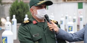 سپاه قدس نفسی تازه به بیمارستانهای گیلان بخشید/ توزیع بیش از ۵۰۰ کپسول اکسیژن در بیمارستانهای گیلان
